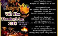 Viết Cho Thanksgiving 2018