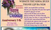 Chúc Mừng Website Thủ Khoa Huân Thành Lập Ba Năm